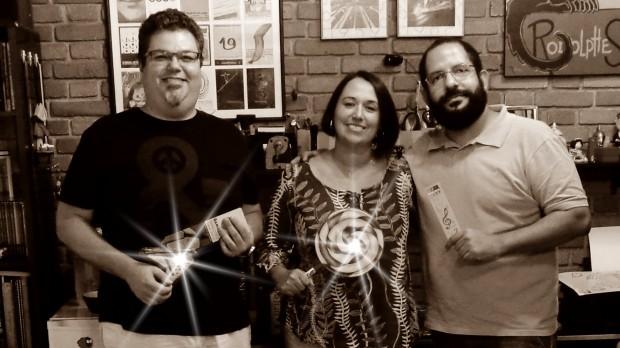 Da esquerda para direita Fernando Vianna, Rosana Lopes e Diogo Cardoso (Foto:Carlos Bozzo Junior)