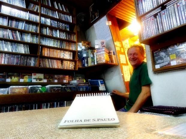 Ademir Pedro Manzato, dono da Pop´s loja de discos (Foto: Carlos Bozzo Junior)