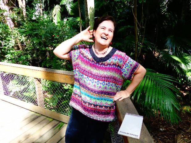 A cantora Gisella Gonçalves, que estava sem cantar profissionalmente há sete anos (Foto: Carlos Bozzo Junior)