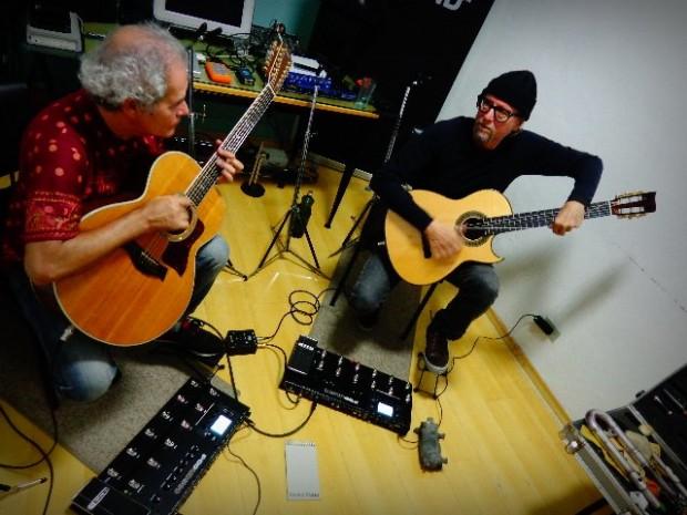 À direita Fernando Melo e à esquerda Luiz Bueno, integrantes do Duofel (Foto: Carlos Bozzo Junior)
