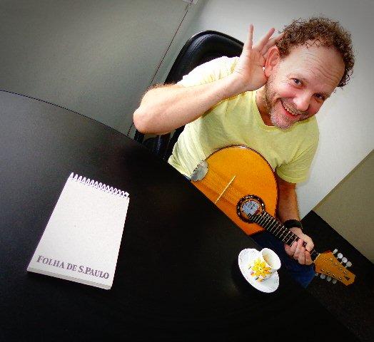 O músico Ronen Altman em entrevista ao Música em Letras (Foto: Carlos Bozzo Junior)