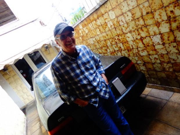 Netinho com seu carro atual (Foto: Carlos Bozzo Junior)