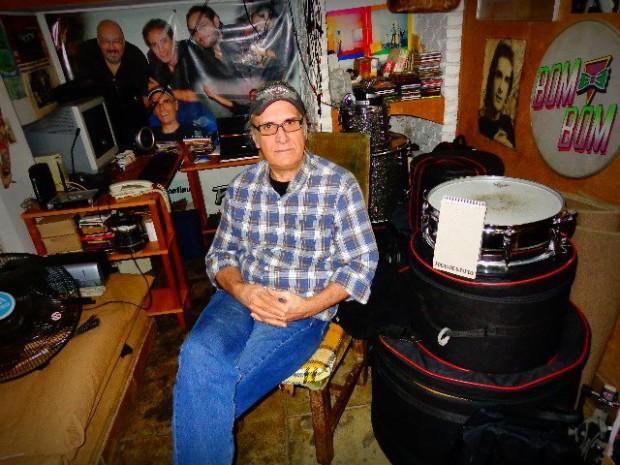 Netinho, o baterista de Os Incríveis em entrevista ao Música em Letras (Foto: Carlos Bozzo Junior)