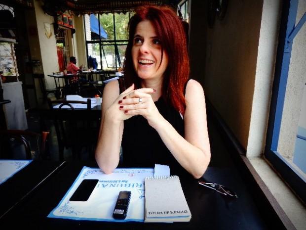 A cantora e compositora Vanessa Bumagny, em entrevista ao Música em Letras (Foto: Carlos Bozzo Junior)
