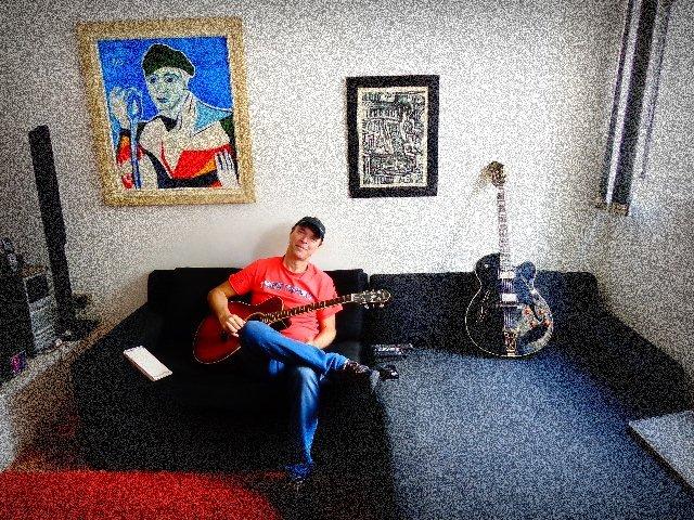 Rick Rehder, guitarrista da banda Áries (Foto: Carlos Bozzo Junior)
