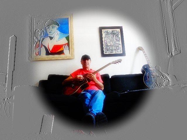 Rick Rehder solando (Fotomontagem Carlos Bozzo Junior)