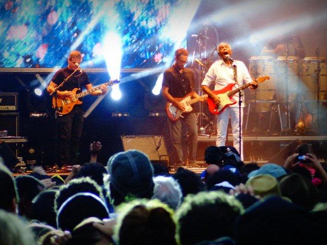 O cantor e compositor Gilberto Gil no show do 462º aniversário da cidade de São Paulo (Foto: Carlos Bozzo Junior)