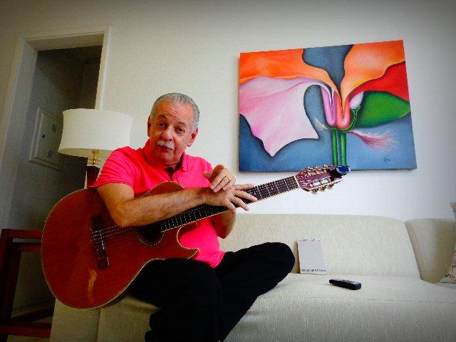 O músico Carlos Henry em entrevista para o Música em Letras (Foto: Carlos Bozzo Junior)