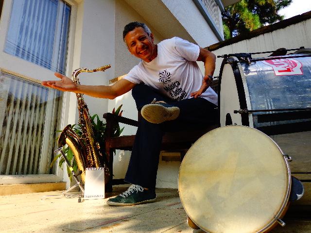 O músico Zé Pitoco, em entrevista ao Música em letras (Foto: Carlos Bozzo Junior)
