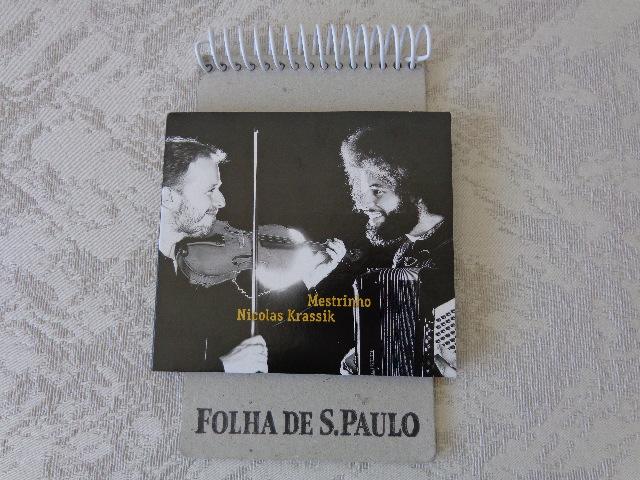 """Capa do disco """"Mestrinho e Nicolas Krassik"""" (Foto: Carlos Bozzo Junior)"""
