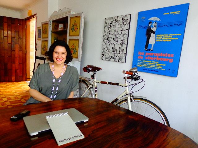 Rita Gullo em entrevista ao Música em Letras (Foto: Carlos Bozzo Junior)