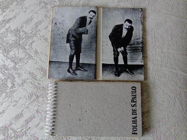 """Fotos do livro """"Le Petomane"""", com o artista Joseph Pujol em ação (Foto: Carlos Bozzo Junior)"""