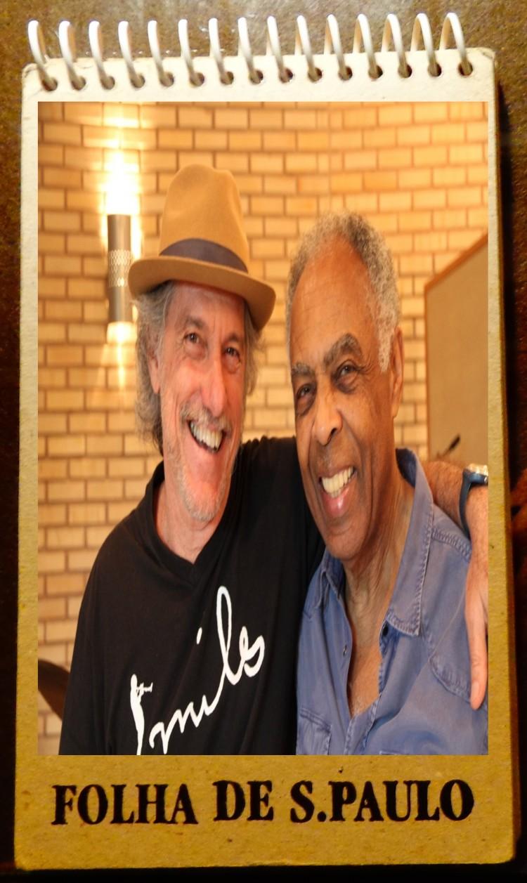 Mauro Senise e Gilberto Gil (Fotomontagem: Carlos Bozzo Junior)