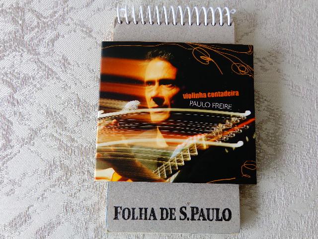 """Capa do disco """"Violinha Contadeira"""", de Paulo Freire (Foto: Carlos Bozzo Junior)"""