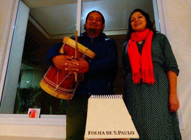 O músico Paulinho Bastos e a cantora Patricia Bastos, que fazem show em São Paulo (Foto Carlos Bozzo Junior)