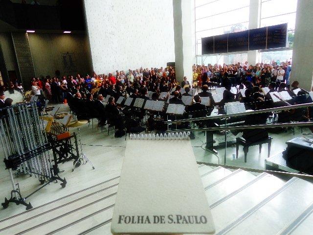 Banda Sinfônica do Estado de São Paulo, em ato concerto realizado no último dia 20, no Hall Monumental da Assembléia Legislativa do Estado de São Paulo (Foto: Carlos Bozzo Junior)