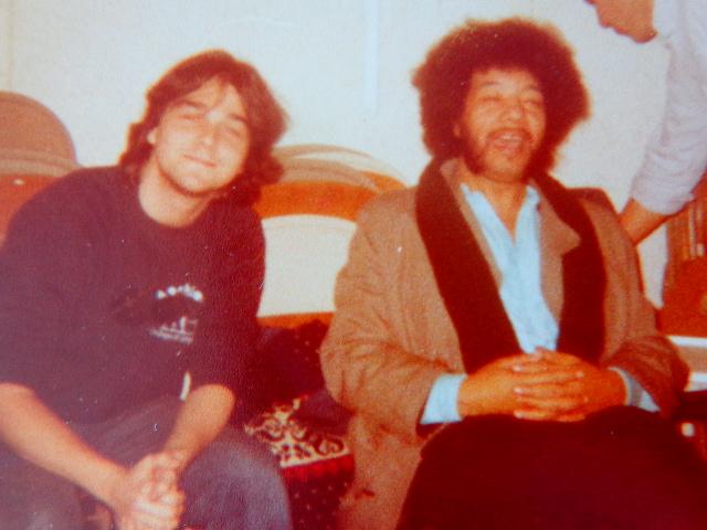 À esquerda, o autor do Música em Letras com Raul de Souza, na Berklee College of Music, em 1983 (Foto: Carlos Bozzo Junior)