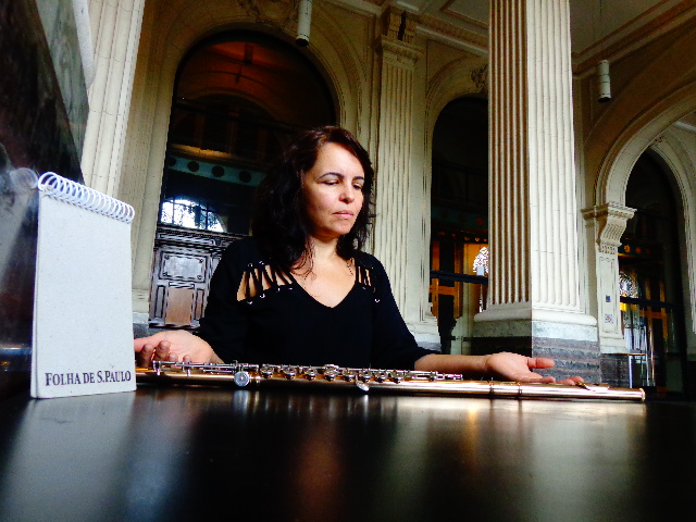 A flautista e integrante da Banda Sinfônica do Estado de São Paulo, Gabriela Machado (Foto: Carlos Bozzo Junior)