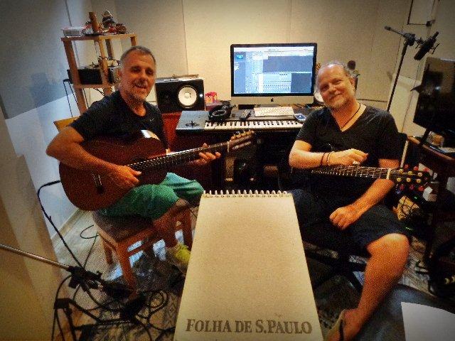 Os músicos Swami Jr e, à esquerda, Tuco Marcondes, que se apresentam , amanhã (18), em São Paulo (Foto: Carlos Bozzo Junior)