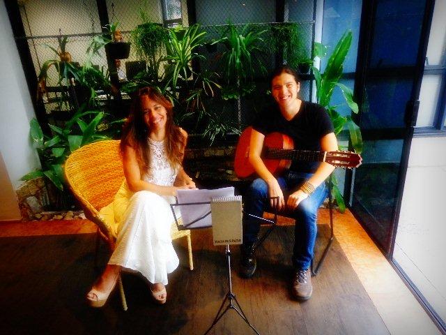 A cantora e compositora Cecília Leite e o violonista Tadeu Ramos (Foto; Carlos Bozzo Junior)