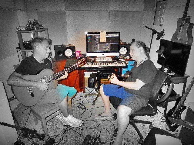 Os instrumentistas mostrando os dois lados da força (Foto: Carlos Bozzo Junior)