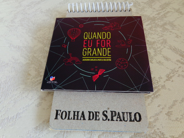 "Capa do CD ""Quando Eu For Grande"" (Foto: Carlos Bozzo Junior)"