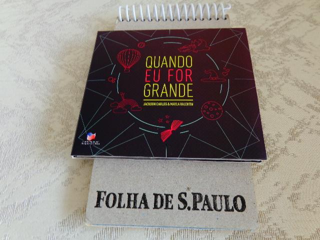 """Capa do CD """"Quando Eu For Grande"""" (Foto: Carlos Bozzo Junior)"""