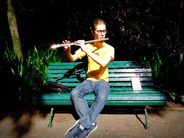 Felipe Alves Gazoni, flautista e pianista (Foto: Carlos Bozzo Junior)